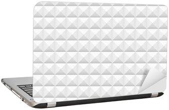 Nálepka na Notebook Bílé dlaždice, náměstí, vektorové ilustrace, bezešvé vzor