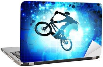 Nálepka na Notebook BMX cyklista