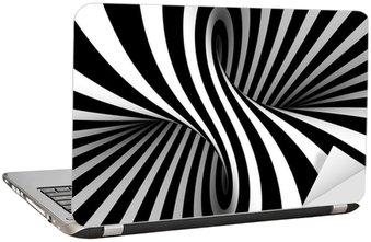 Nálepka na Notebook Černá a bílá abstraktní