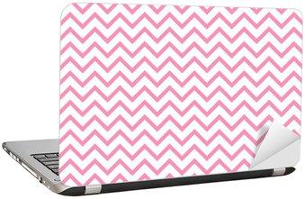 Nálepka na Notebook Chevron cik-cak černé a bílé bezešvé vzor. Vektor geometrické monochromatický pruhované pozadí. Zig Zag vlny. Chevron monochromatický classic ornament.