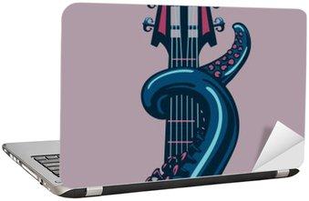Nálepka na Notebook Chobotnice chapadlo se drží kytara riff.