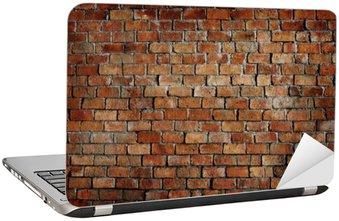 Nálepka na Notebook Classic Beautiful texturou Cihlová zeď