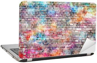 Nálepka na Notebook Colorful grunge art wall ilustrace, pozadí