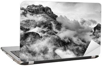 Nálepka na Notebook Dolomity Black and White