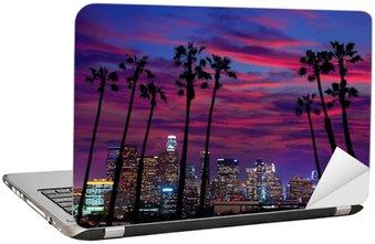 Nálepka na Notebook Downtown LA noc Los Angeles sunset panorama Kalifornie