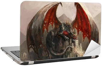 Nálepka na Notebook Dragon Castle