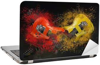 Nálepka na Notebook Elektrická kytara