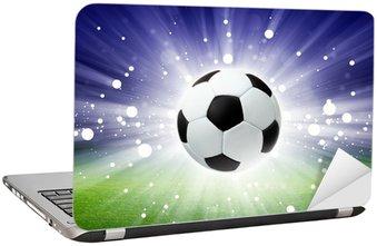 Nálepka na Notebook Fotbalový míč, stadion, světlo