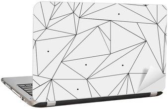 Nálepka na Notebook Geometrické jednoduchá černá a bílá minimalistický vzor, trojúhelníku nebo okenní vitráž. Může být použit jako tapety, pozadí nebo textury.