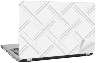 Nálepka na Notebook Geometrické pozadí, čtverce. Konstrukce šňůr. Bezešvé vzor. Vektorové ilustrace EPS 10