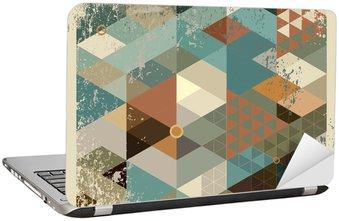 Nálepka na Notebook Geometrické pozadí.