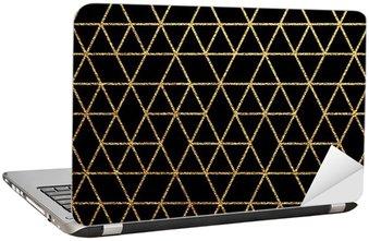 Nálepka na Notebook Gold textury na abstraktní dovolenou pozadí