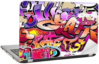 Nálepka na Notebook Graffiti bezešvé pozadí. Hip-hop urban art