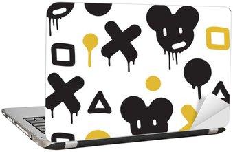 Nálepka na Notebook Graffiti - bezešvé vzor