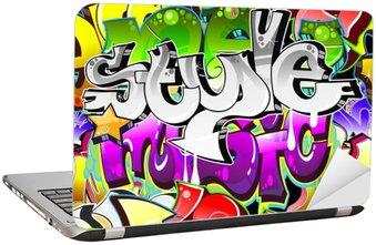 Nálepka na Notebook Graffiti Urban Art pozadí. Bezešvé provedení