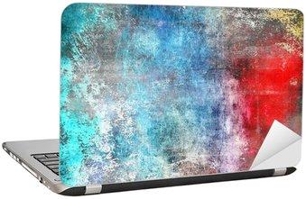 Nálepka na Notebook Grunge barevné pozadí, poškrábaný textury