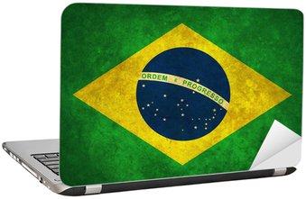 Nálepka na Notebook Grunge Brazílie flag