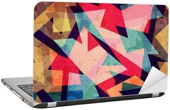 Nálepka na Notebook Grunge geometrický bezešvé vzor