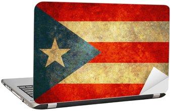 Nálepka na Notebook Grunge Puerto Rico vlajka