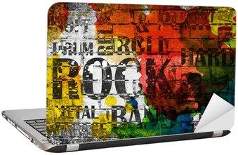 Nálepka na Notebook Grunge rocková hudba plakát