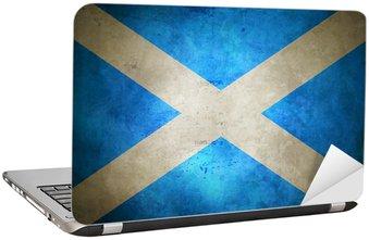 Nálepka na Notebook Grunge skotské vlajky