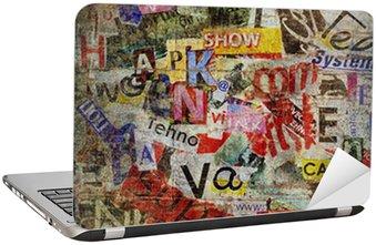 Nálepka na Notebook Grunge texturované pozadí