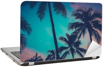Nálepka na Notebook Hawaii Palmy při západu slunce