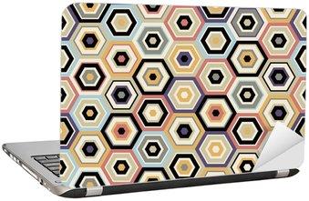 Nálepka na Notebook Hexagon bezešvé vzor