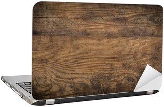 Nálepka na Notebook Hnědé dřevo textury. Abstraktní pozadí