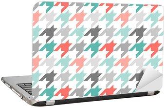 Nálepka na Notebook Houndstooth bezešvé vzor, barevné