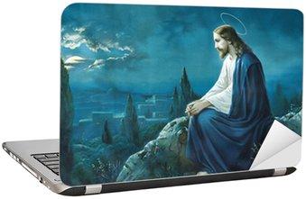 Nálepka na Notebook Ježíšova modlitba v Getsemanské zahradě.