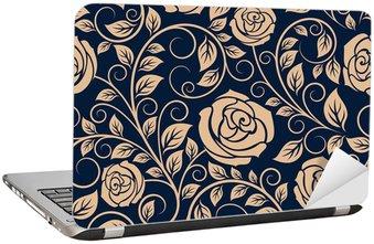 Nálepka na Notebook Klasická růže květiny bezešvé vzor