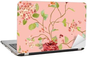 Nálepka na Notebook Klasické Flowers - Floral Hortensia pozadí - bezešvé vzor
