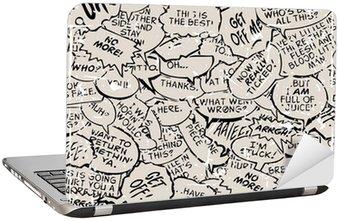 Nálepka na Notebook Koláž z komické bubliny knihy dialog