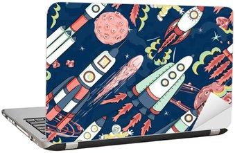 Nálepka na Notebook Kosmická loď bezešvé vzor