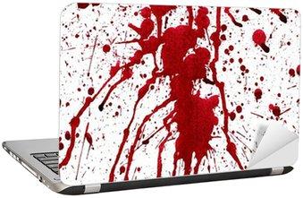 Nálepka na Notebook Krvavé postříkání