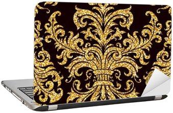 Nálepka na Notebook Květinové zlatý tapety