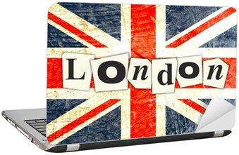 Nálepka na Notebook LONDON Anglická vlajka