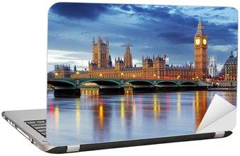 Nálepka na Notebook Londýn - Big Ben a Houses of Parliament, Velká Británie