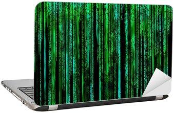 Nálepka na Notebook Matrix Dopis kód dlouhým zeleně.