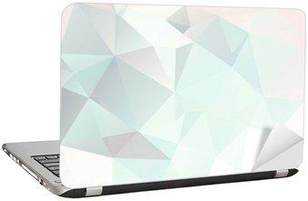 Nálepka na Notebook Měkké pastelové abstraktní geometrické pozadí s přechody vektoru