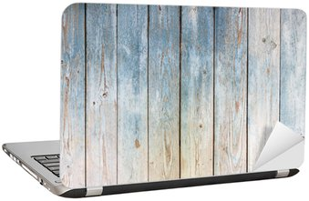 Nálepka na Notebook Modrá vinobraní dřevěné pozadí