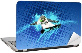 Nálepka na Notebook Montáž snowboard