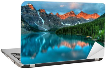 Nálepka na Notebook Moraine Lake Sunrise Colorful krajina