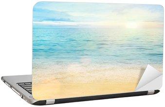 Nálepka na Notebook Moře a písek na pozadí