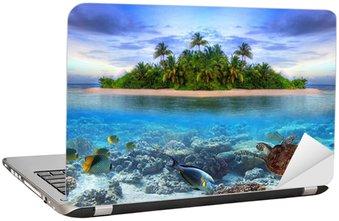 Nálepka na Notebook Mořský život na tropickém ostrově Maledivy