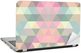 Nálepka na Notebook Mosaic trojúhelník na pozadí. geometrické pozadí