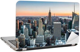 Nálepka na Notebook New York Skyline při západu slunce