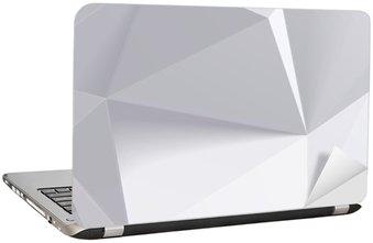Nálepka na Notebook Nízká polygon geometrie tvaru. vektorové ilustrace