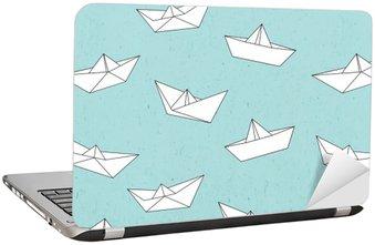 Nálepka na Notebook Papír loď vzor